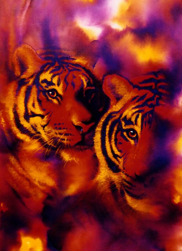aquarel tijgers