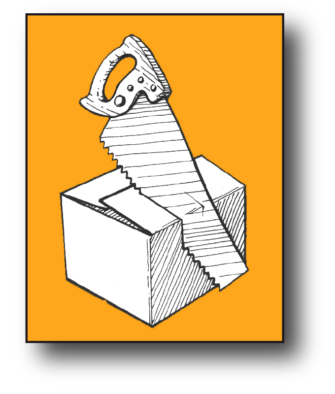 illustration packaging reduction icon