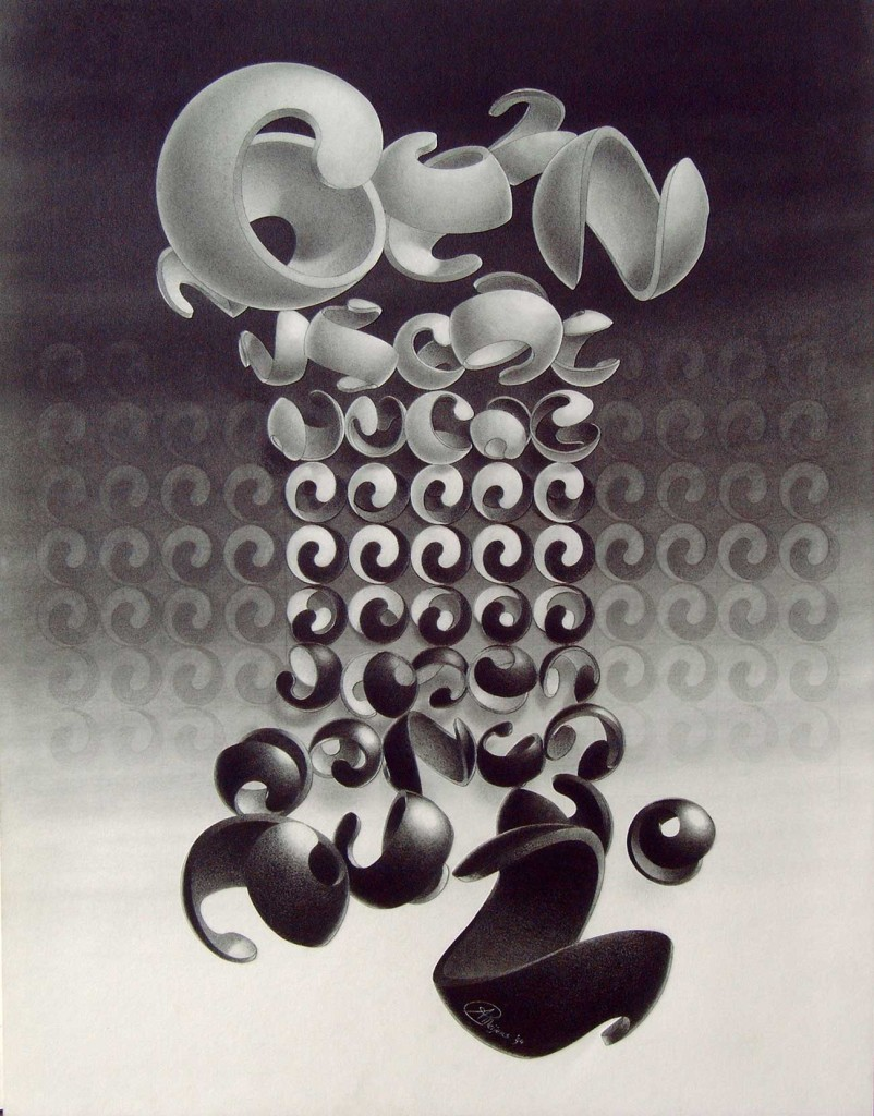 pencildrawing balls yin yang metamophosis freedom