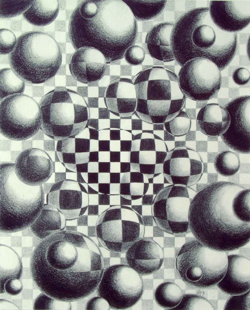 pencildrawing balls metamophosis freedom