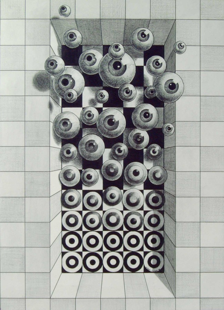 pencildrawing balls metamophosis freedom eye