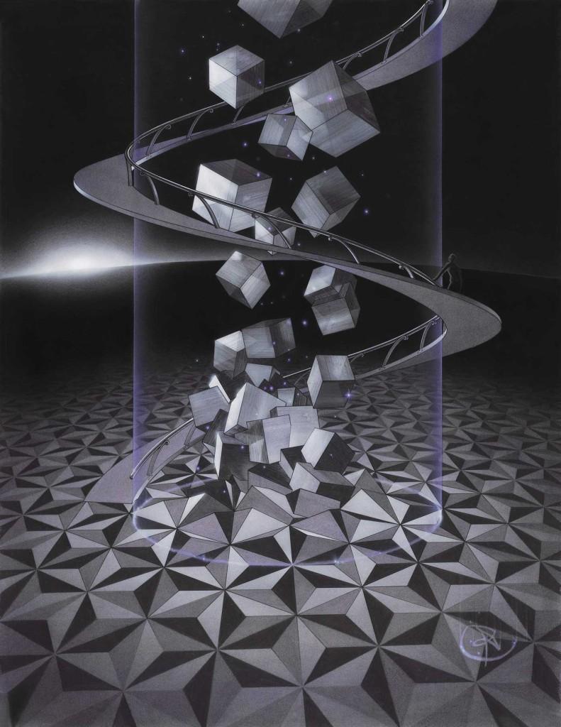 pencildrawing qubes metamophosis freedom