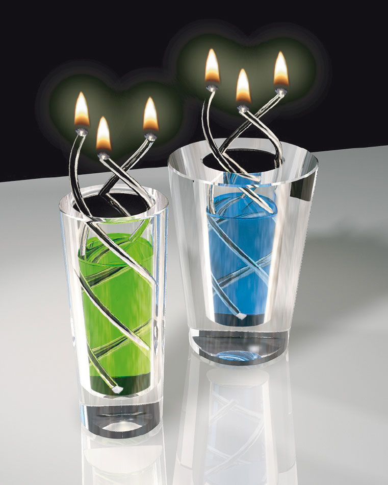 product  spiral glass oil lamp candle